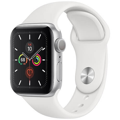 Apple Watch Series 5 Silver (белый ремешок)