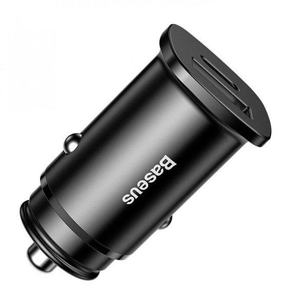 Автомобильное зарядное устройство Baseus Circular Plastic 30W PPS 2А