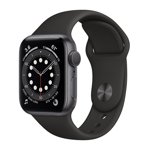 Apple Watch Series 6 Space Gray (черный ремешок)