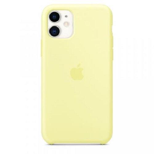 Чехол-наладка на iPhone Silicone Case mellow yellow