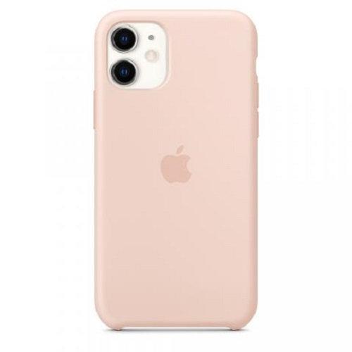 Чехол-наладка на iPhone Silicone Case pink sand