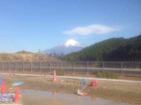 富士宮市で作業中に見た富士山