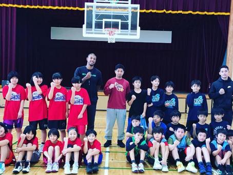 Triple Threat.Exeとタイアップ!嘉手納小学校バスケクリニック