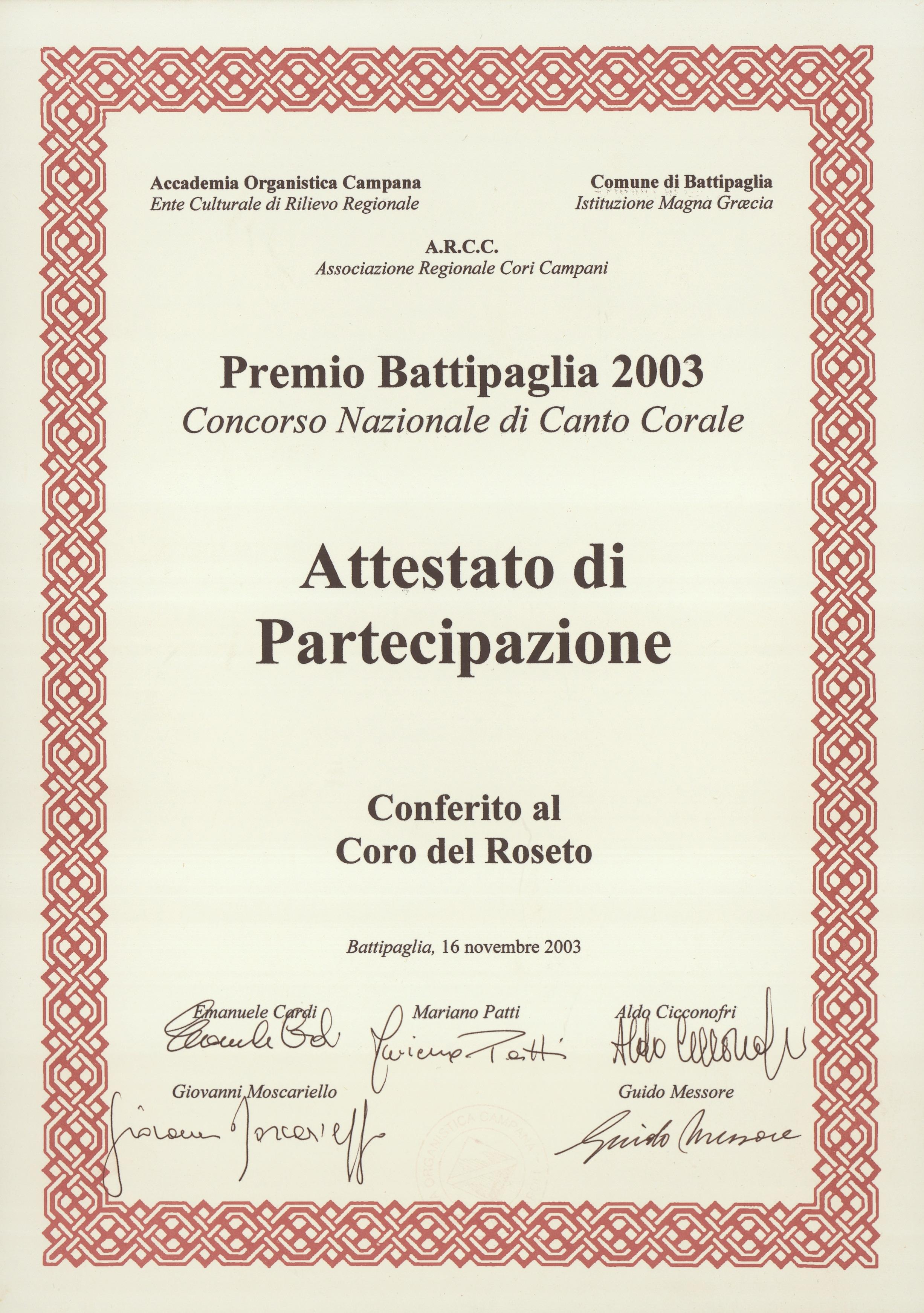 Battipaglia 2003
