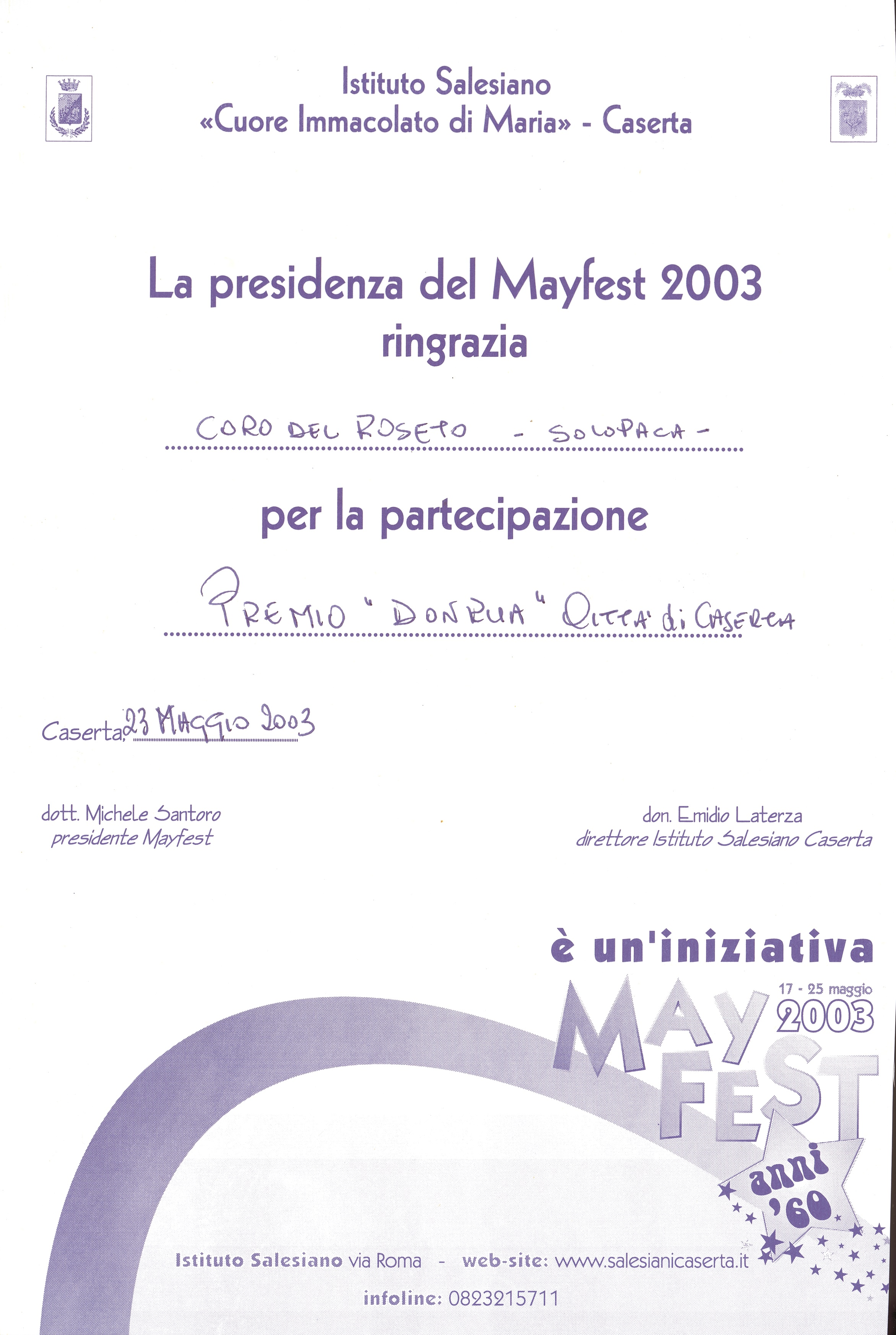 Caserta MAYFEST 2003