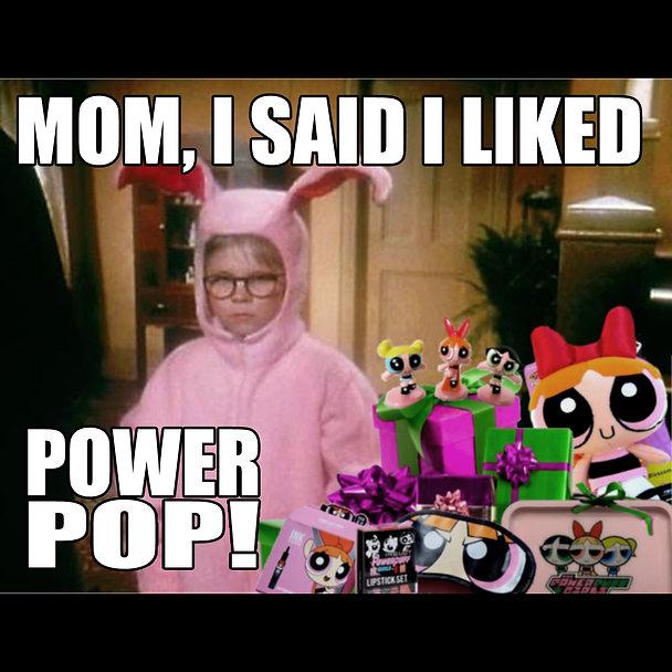 A Christmas Story Power Pop meme square.