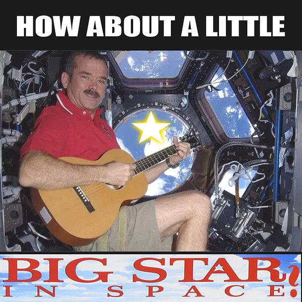 Big Star In Space Astronaut Power Pop Me