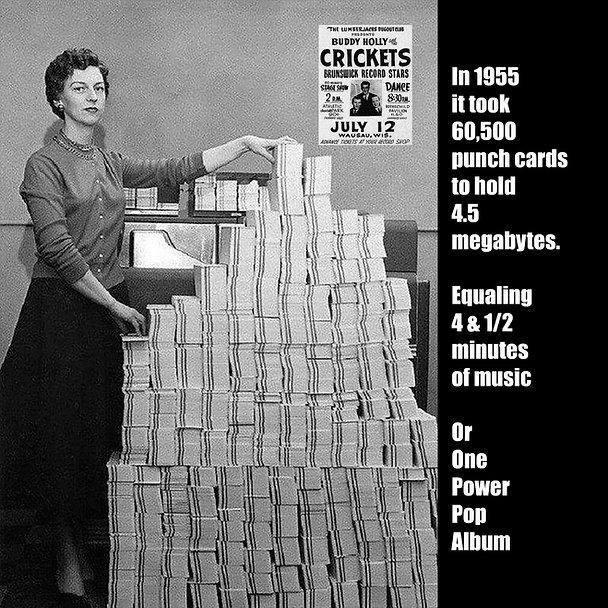 1955 Computer Data Cards Power Pop Meme
