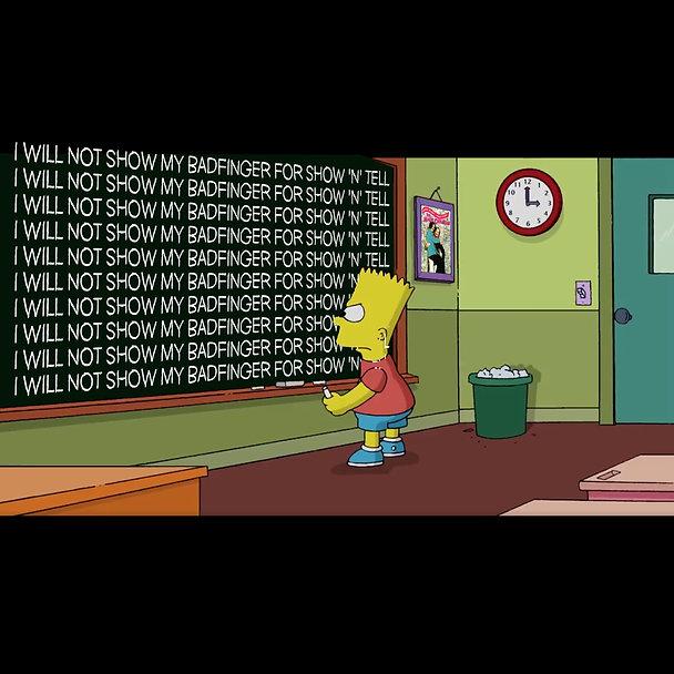 Bart Simpson Chalkboard Power Pop meme 2