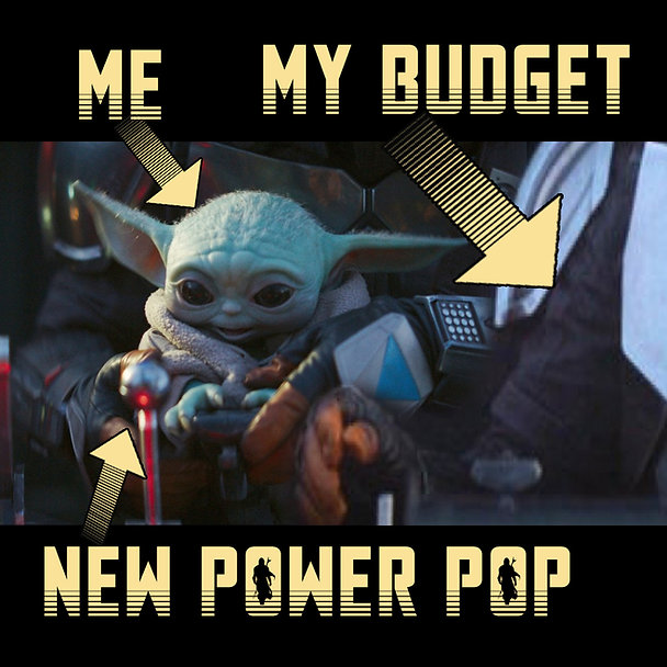 Baby Yoda Reaches For Knob Power Pop Mem