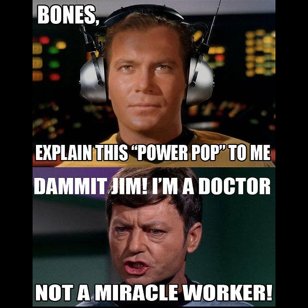Captain Kirk Headphones Power Pop Meme.j