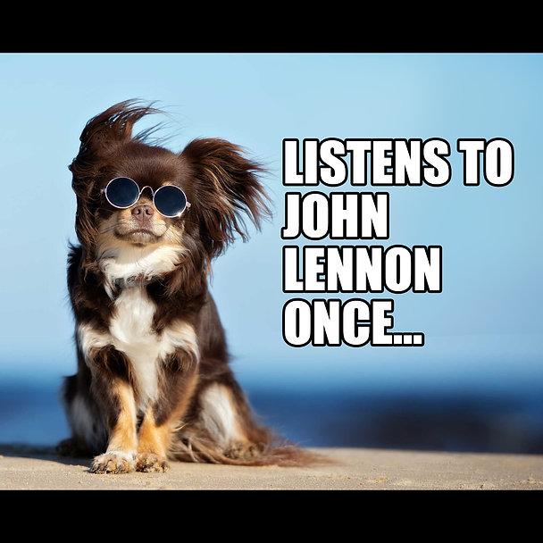 Dog Listens to John Lennon Power Pop Mem