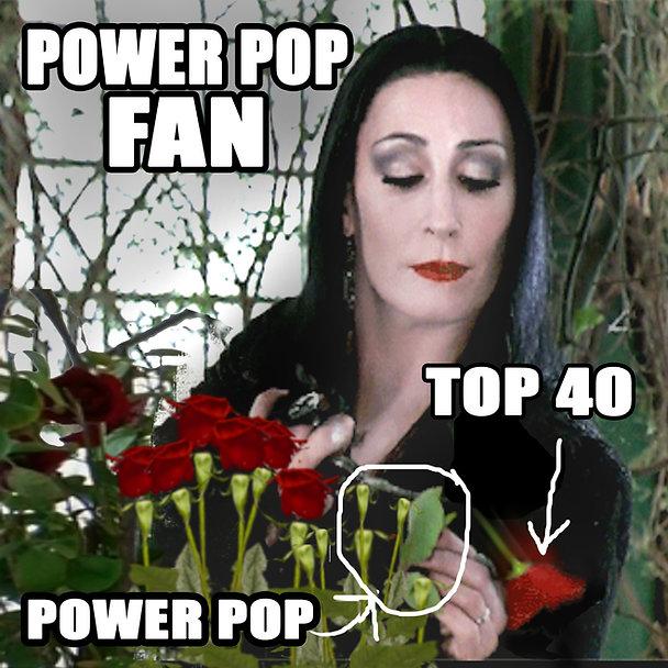 Morticia Addams Roses Power Pop Meme  fl