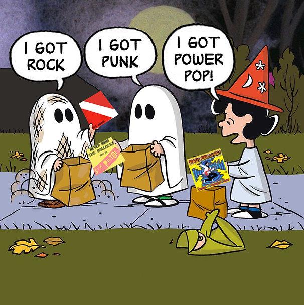 Peanuts Trick Or Treat Rock Power Pop Me