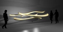 Concept for chandelier in bronze