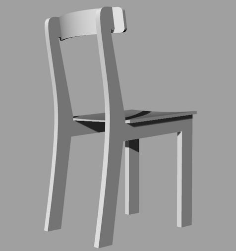 3D design for a chair that was lo fabricated