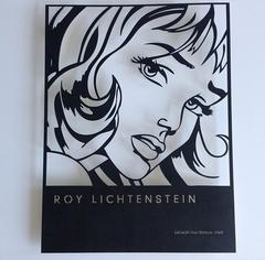 Laser cut Lichtenstein print in steel