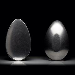 Egg Bowl in cast aluminium