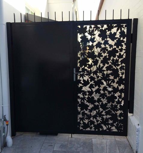 Laser cut side gate