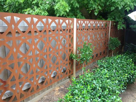 Laser cut corten fence