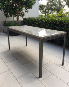 Granite and Steel outdoor table