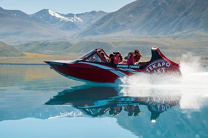 Tekapo Jet scenic tour on beautiful Lake Tekapo