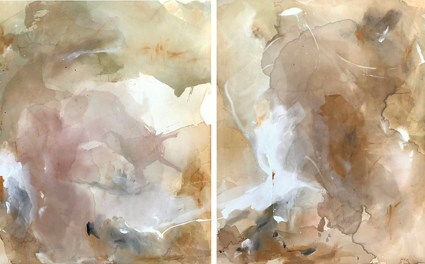 Natural, neutral, earth tone painting