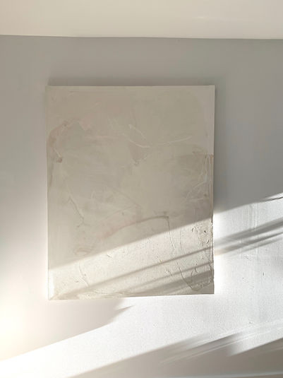 white abstract painting