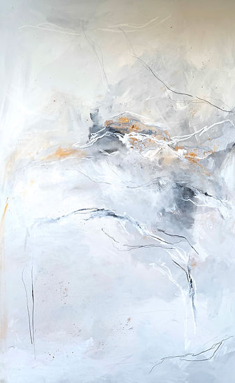 Jenna Polla, Neutral, texturized, abstract painting