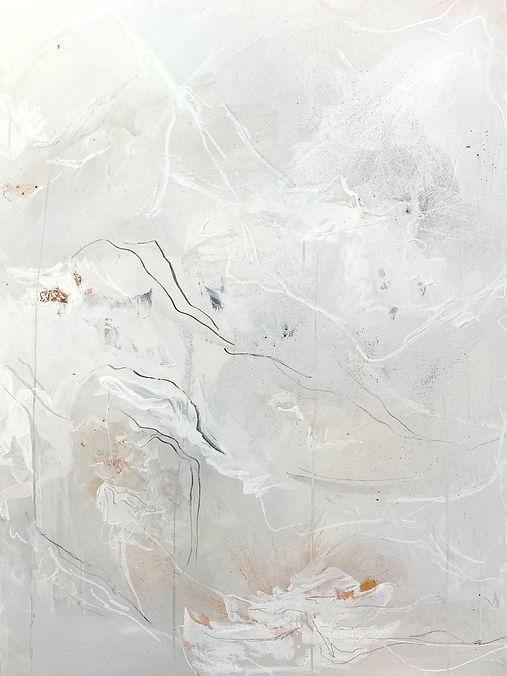 Jenna Polla, Neutral, texturized abstraxt painting