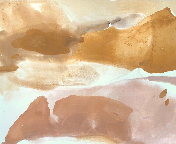 Natural pink and mustard painting