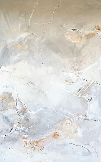 Jenna Polla, Neutral, abstract, large-scale painting