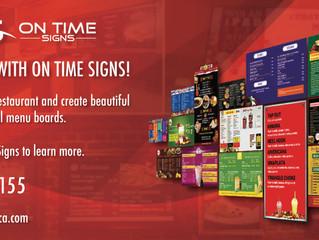 Go Digital with your menu board!