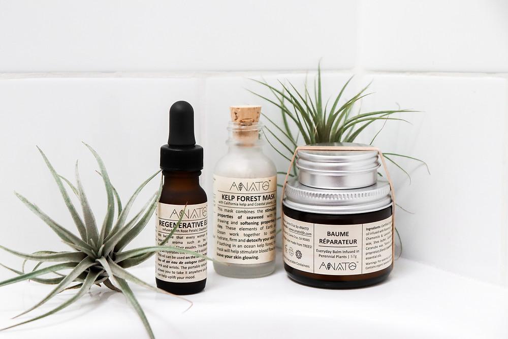 Regenerative Elixir, Kelp Forest Face Mask and Baume Réparateur