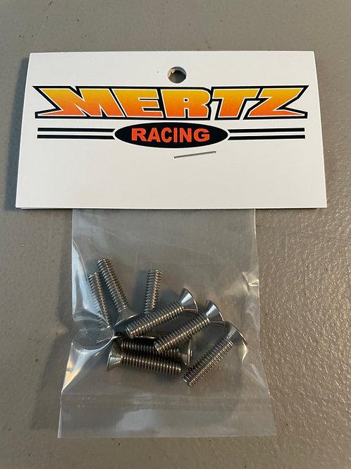 (8) 8-32 x 3/4 Flat Head Socket Screws  - Stainless Steel