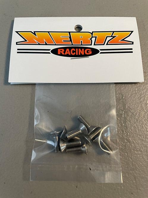 (8) 8-32 x 1/2 Flat Head Socket Screws  - Stainless Steel