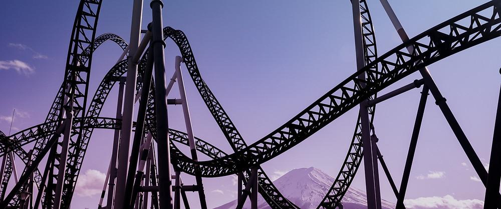 A roller coastera of mood swings