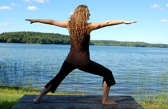 Yoga pose by Julia Davie