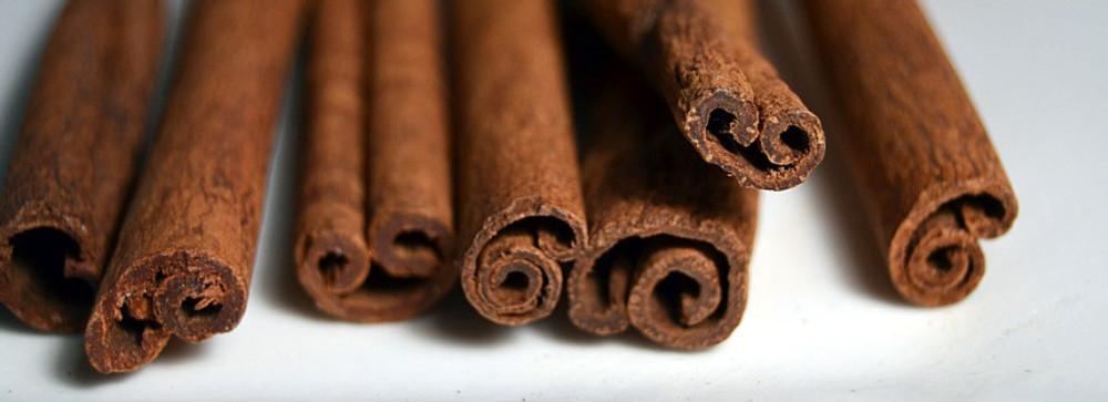 cinnamon sticks in a row