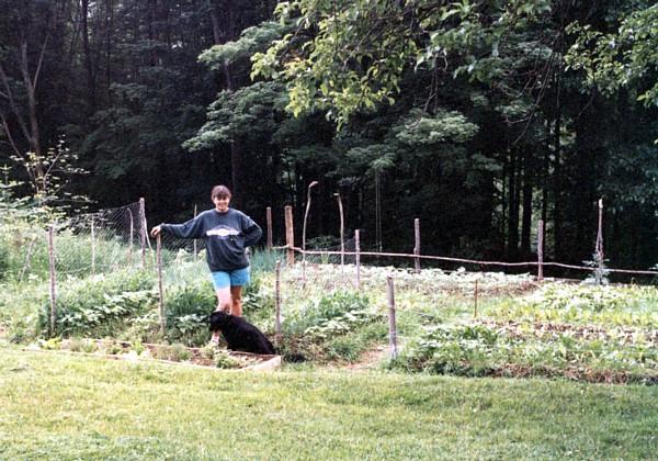 My mom in her garden