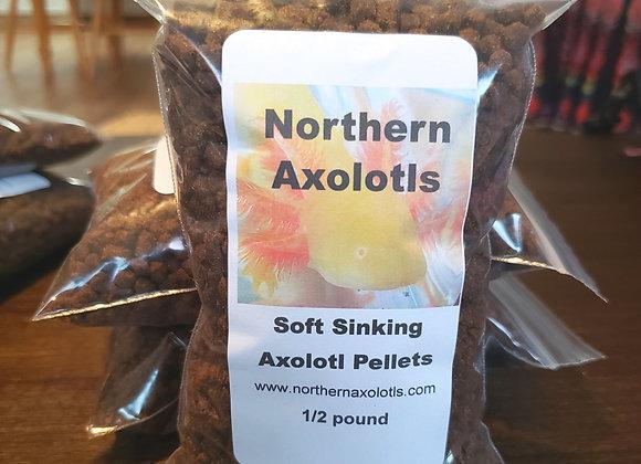 1/2 lb 4mm Soft sinking Axolotl pellets Lg size
