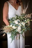White modern bridal bouquet