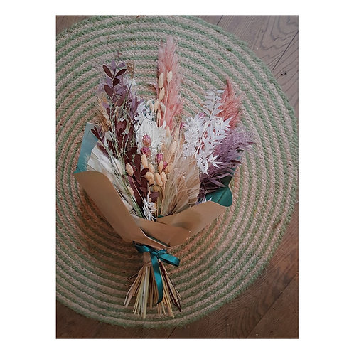 large dried flowers pastel