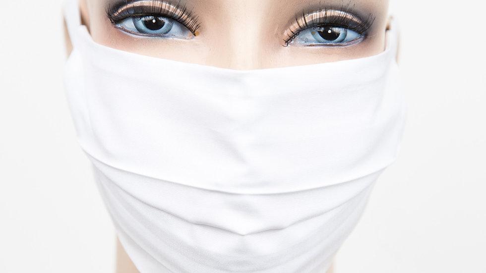 Mund Nasen Maske Baumwolle weiß
