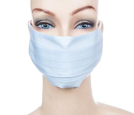Mund Nasen Maske Baumwolle hellblau