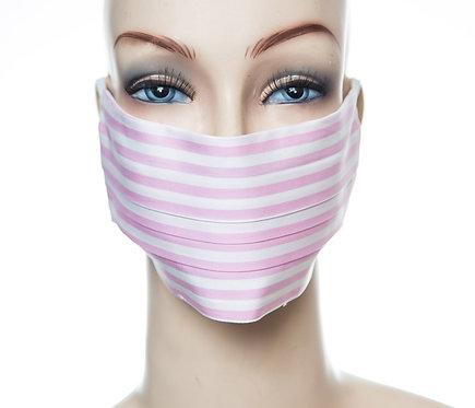 Mund Nasen Maske Baumwolle rosa Streifen 1