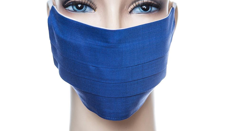Mund Nasen Maske Baumwolle königsblau