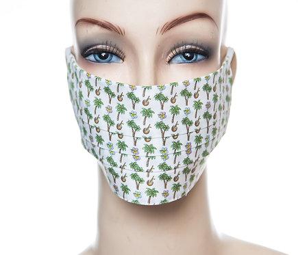 Mund Nasen Maske Baumwolle Palmen