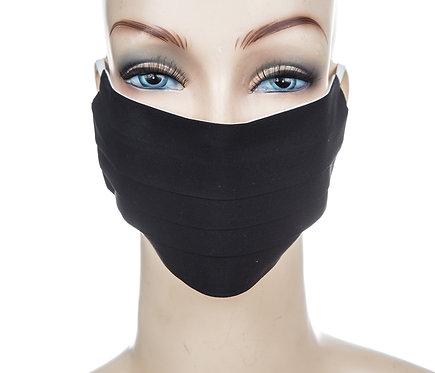 Mund Nasen Maske Baumwolle schwarz
