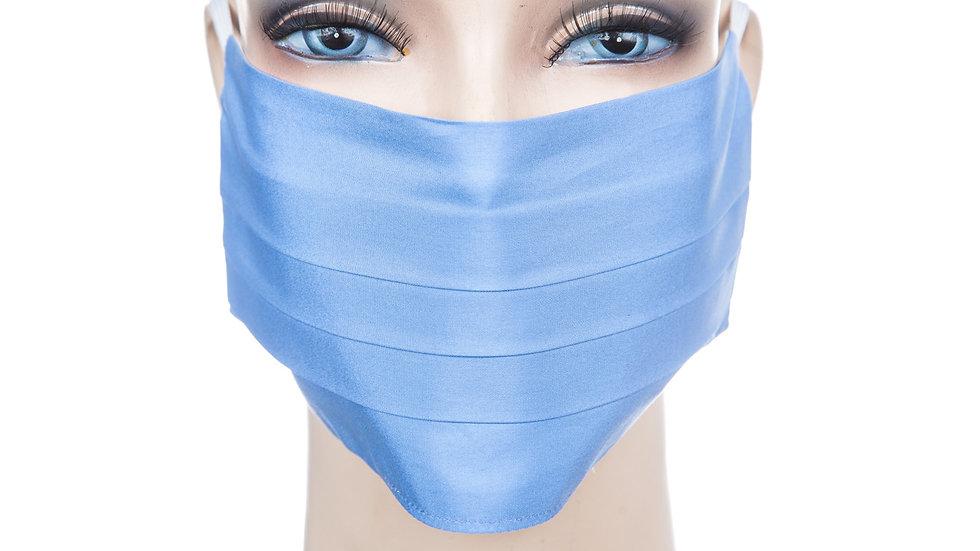 Mund Nasen Maske Baumwolle azurblau